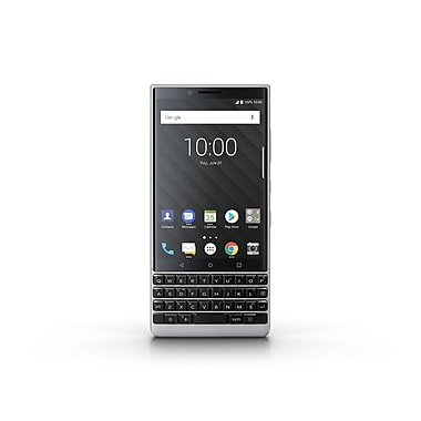 BlackBerry KEY2 4.5-inch Unlocked Cell Phone, 64 GB, Android, Silver (PRD-63825-002)
