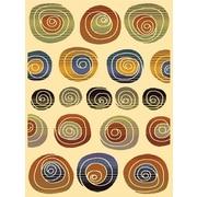 Avocado Decor Artificial Silk Cyrus Area Rug, 3.3' x 4.6', Multi (689287350994)