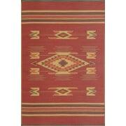 Mad Mats Navajo Outdoor Reversible Rug, 4' x 6', Dark Red (832271005145)