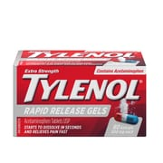 Tylenol Extra Strength Rapid Release Gels Acetaminophen Tablets, 500 mg,  80 Gelcaps/Pack