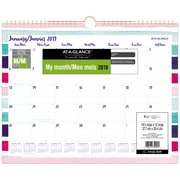 AT-A-GLANCE® – Calendrier mural Carousel, 15 po x 12 po