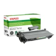 Staples® Sustainable Earth Reman Toner Cartridge, Brother TN750 Black, High Yield
