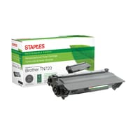 Staples® Sustainable Earth Reman Toner Cartridge, Brother TN720 Black, Standard Yield