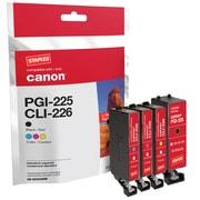 Staples® – Cartouche d'encre réusinée, Canon PGI-225/CLI-226 NCMJ, rendement standard, paq./4