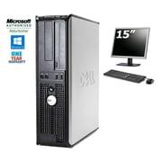 DELL-PC de table OPTIPLEX 580 SFF, remis à neuf, AMD Athlon 11X26B, DD 250 Go, DDR3 4 Go, Win 10 Famille + moniteur ACL 15po