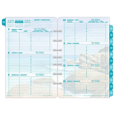 Day Timer 2019 Coastlines Themed Desk Planner Refills 5 1 2 X 8