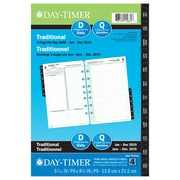 "Day-Timer® 2019 Dated Desk Planner Refills, 5-1/2"" x 8-1/2"", 2-Pages-Per-Day, Bilingual"