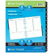 "Day-Timer® 2019 Dated Refills, Folio, 1-Page Per Day, 8-1/2"" x 11"", Bilingual"