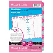 Day-Timer® – Recharges à thème ruban rose 2019, calendrier de table, 2 pages par semaine, 5 1/2 po x 8 1/2 po, bilingue