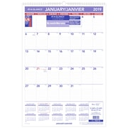 """AT-A-GLANCE® 2019 Monthly Wall Calendar, 15-1/2"""" x 22-3/4"""", Bilingual"""