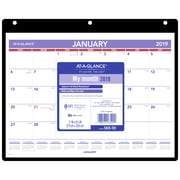 "AT-A-GLANCE 2019 Monthly Desk/Wall Calendar, 11"" x 8-1/4"", Bilingual"