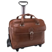 Siamod VERNAZZA, CARUGETTO, Napa Cashmere Leather, Patented Detachable -Wheeled Laptop Briefcase, Cognac (45294)