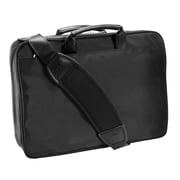 McKlein R Series, LASALLE, Top Grain Cowhide Leather, Wheeled Laptop Overnight w/ Removable Briefcase, Black (83405)