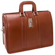 McKlein Morgan, Litigator Laptop Briefcase, Top Grain Cowhide Leather, Brown (83344)