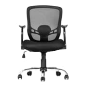 Moustache® Mid Back Office Mesh Task Chair with Armrest, Black (SP-MOFC-H0420)