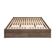 Prepac King Select 4-Post Platform Bed with 4 Drawers