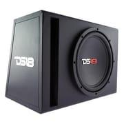 DS18 – Caisson de graves de 10 po Bass Package, dans un boîtier MDF avec amplificateur intégré et trousse d'installation, 600 wa