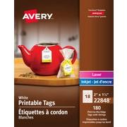 Avery Étiquette arrondies pour bouteilles, laser/jet d'encre jusqu'au bord, blanc, permanentes, 4,25 x 3,5, paq./40