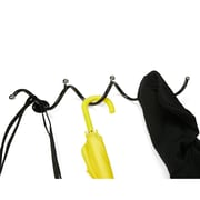Wall Mounted Metal Scarf, Hat, Umbrella, Coat Rack Hanger Holder, Black