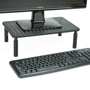 Rectangle Monitor Stand, Ventilated Metal for Computer, Laptop, Monitor, Black