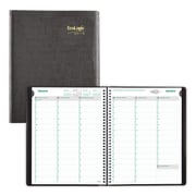 """2019 Brownline® EcoLogix® 12-Month Weekly Appointment Book, Black Romanel Cover, 11"""" x 8-1/2"""" (CB425W.BLK-19)"""