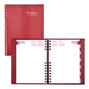 "2019 Brownline® CoilPro™ 12-Month Daily Planner, Red Lizard-Like Hard Cover, 8-1/4"" x 5-3/4"" (CB389C.RED-19)"