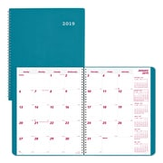 "2019 Brownline® Duraflex 14-Month Monthly Planner, Aqua Poly Cover, 11"" x 8-1/2"" (CB1262V.AA-19)"