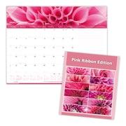 "2019 Brownline® Pink Ribbon, Breast Cancer Awareness 12-Month Monthly Desk Pad Calendar, 22"" x 17"" (C1832PNK-19)"