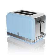 Swan Retro 2 Slice Toaster, Black (ST19010BN)