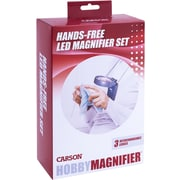 3-In-1 Led Lighted Hands-Free Hobby Magnifier (HM30)