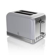 Swan Retro 2 Slice Toaster, Grey (ST19010GRN)