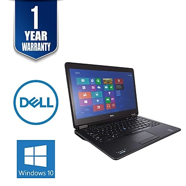 Dell Refurbished Latitude E7450-6 14-inch Notebook, 2.3 GHz Intel Core i5-5300U, 512 GB SSD, 16 GB DDR3, Windows 10 Professional