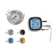 Escali Extra Large Grill Thermometer, Steak Thermometer Set, Touch-Screen Timer Thermometer Combo