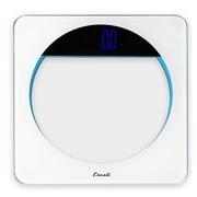 Escali Lunar Blue Body Scale, White