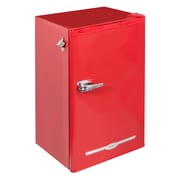 3.2 cu ft. FR376-RED Retro Bar Fridge with Side Bottle Opener, Red