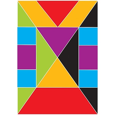 Ashley Math Die Cut Magnet, Tangrams, 5/Pack