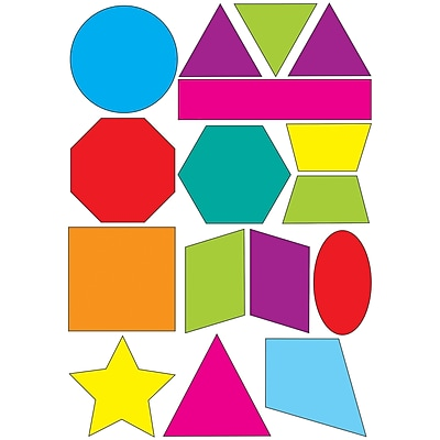 Ashley Math Die Cut Magnet, Shapes, 5/Pack