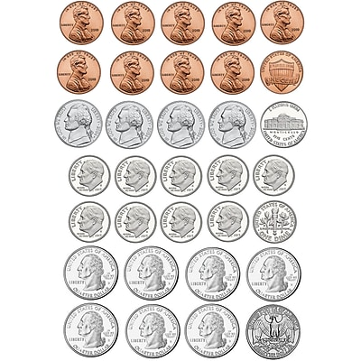 Ashley Math Die Cut Magnet, U.S. Coins, 5/Pack