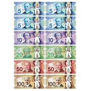 Ashley Productions Die-Cut Magnetic Canadian Dollars, 6 Sets (ASH10068)