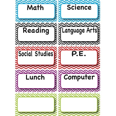 Ashley Magnetic Time Organizers, Class Subjects (ASH10093)