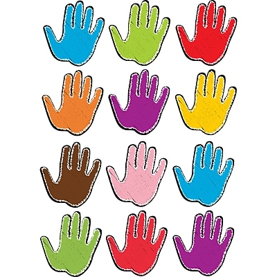 Die-Cut Magnet Scribble Handprints 12/pk, Assorted Colors 8.5