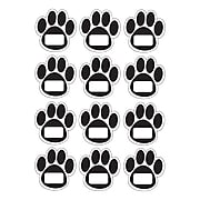 Ashley® Die-Cut Magnetic Nameplates, Black Paws