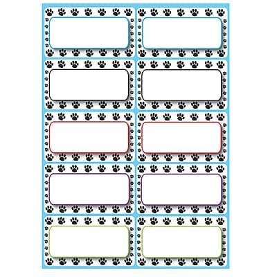 Ashley® Die-Cut Magnetic Nameplates, Black Paw