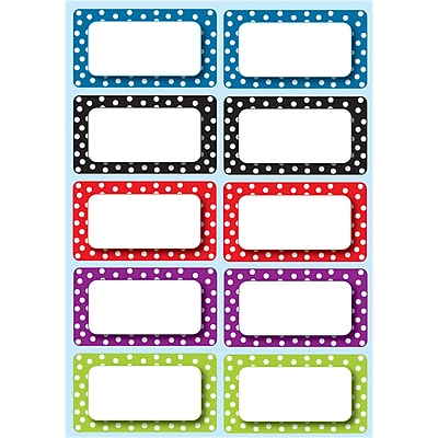 Ashley Die Cut Magnet Nameplates, Color Dots