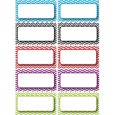 Ashley K - 12th Grade Die-Cut Magnet Name Plate, Color Chevron, 10/Pack