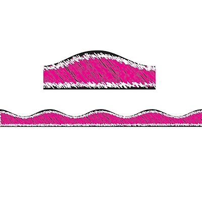 Ashley Productions Magnetic Border, Magenta Scribble Chalk (15 x 2.5)