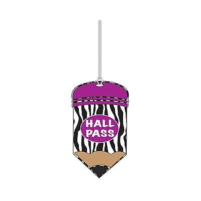 Ashley® Pencil Shaped Print Hall Pass