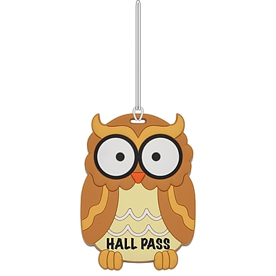Ashley Owl 3D Puffy Hall Pass, Bundle of 3 (ASH10600)