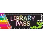 """Ashley Productions® Laminated Library Pass, 9"""" x 3.5"""", Books, Bundle of 6 (ASH10635)"""