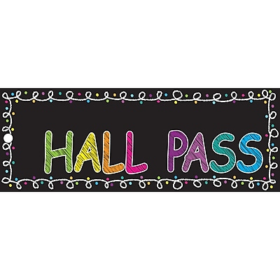 Ashley Laminated Chalk Hall Pass, Bundle of 3 (ASH10661)